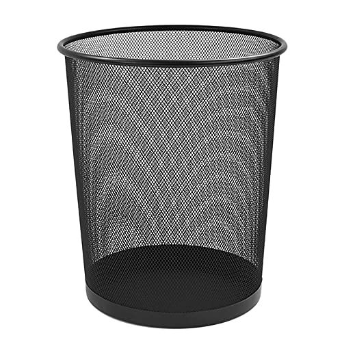 ZYBUX - Circular Mesh Wastebasket Trash Can, Waste Basket Garbage Can Bin...
