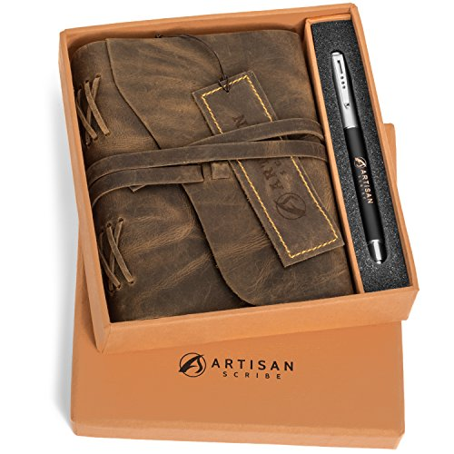 Leather Journal in Gift Box with Pen | Amazon.com
