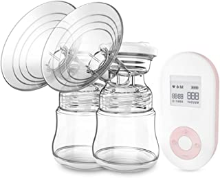Electric Breast Pump 9-Speed Full Silicone Large Suction Automatic Breast Pump LCD Rechargeable Bilateral Breast Pump Mute...