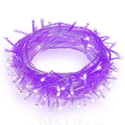 ASKLKD LED String Lights 8 Modes Indoor Fairy Lights Outdoor Waterproof Decorative Lights Christmas/Party Wedding/Event Garden Holiday Supplies (Color : Purple, Size : 50M400LED)