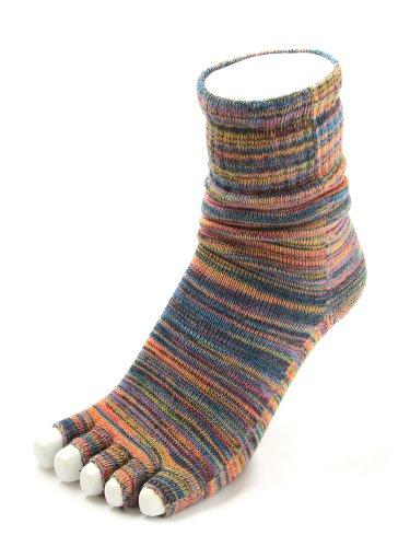 【KARABISA SOCKS/カラビサソックス(うるまミックス:M)】5本指ソックス 5本指開き靴下 トゥレス サンダル ベアフット ソックス