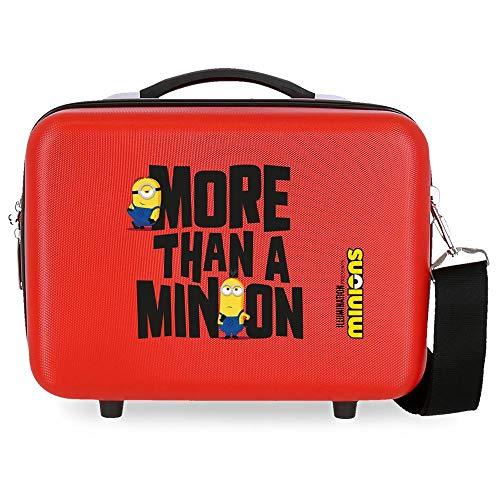 Minions More Than A Minions Neceser Adaptable Rojo 29x21x15 cms Rígido ABS 9,14L 1,6 kgs