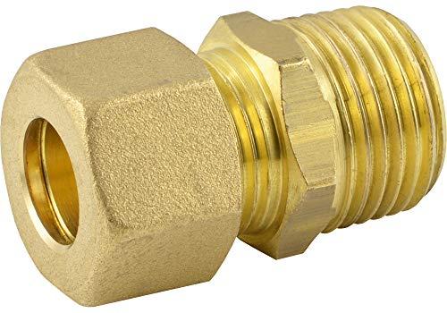 """Fittingteile - Gerade Klemmring Einschraubverschraubungen mit konischem Außengewinde (Gewindegröße: R 3/8\"""" - Rohr Ø außen: 8 mm)"""