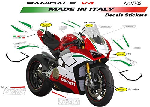 Vulturbike Sticker Set Replik Original Ducati Panigale V4 Speziell