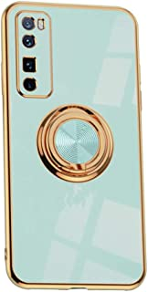 SYBS Case Compatible with Nova 7 Pro, with Metal Magnetic Kickstand [Soft TPU], Electroplating Phone Case Cover (Light blue)