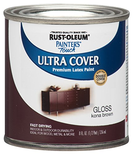 Rust-Oleum 1977730 Painters Touch Latex, Half Pint,  Kona Brown