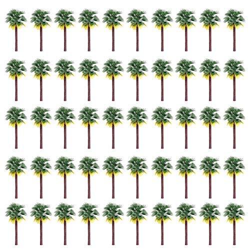 ColiCor 50 9cm Modell Coconut Palmen Kokosnuss Palme Landschaft Modell Modell Bäume Palmen Coconut für Mini Landschaft Landschaftsgestaltung