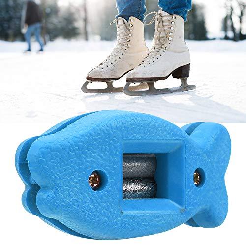 Alomejor Schlittschuh Kanten Messerschärfer Hockey Skate Schärfer Slide Schlittschuhe Eishockey Schuhe Skate Hohlschliff Kufenschärfer(Blau)