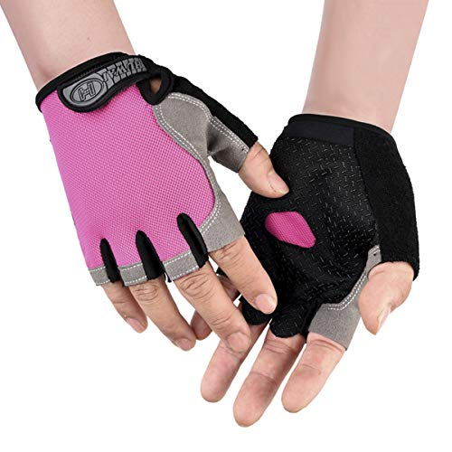 Sommer Herren Fingerlos Fahrradhandschuhe Damen Halbfinger Radsport Handschuhe Anti-Rutsch, Schnell-trocknend, dünn Trainingshandschuhe für Rennrad Mountainbike Fitness Fahren