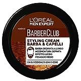 L'ORÉAL Paris Men Expert Barber Club Crema Modellante per Barba e Capelli, Styling Cream a Fissaggio Medio, 75 ml