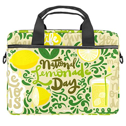 Protective Carry Case Luxury Computer Briefcase Suitable for 13.4'-14.5' Laptop with Display National Lemon Day