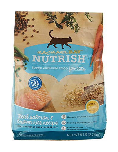 Rachael Ray Nutrish Premium Natural Dry Cat Food, Real Salmon & Brown Rice Recipe, 6 Pounds