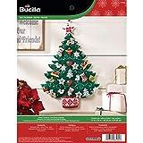 Bucilla Felt Applique Advent Calendar Kit, 17 by 24-Inch, Nordic Tree