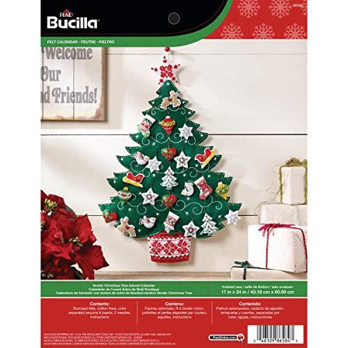 Bucilla Nordic Tree Advent Calendar Felt Applique Kit, 17'x24', 17 by 24-Inch