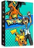 Álbumes Compatible con Cartas Pokemon, Carpeta Compatible con Cartas de Pokémon, Álbum Titular Compatible con Cartas Pokémon, 30 páginas con capacidad para 240 cartas (Green Ash)