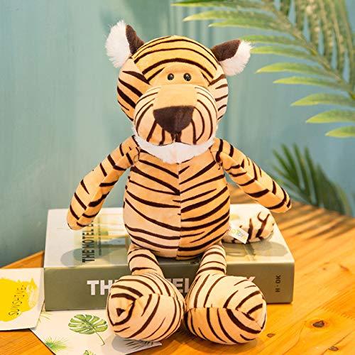 aolongwl Plüschtier 25cm Waldtiere Gefüllte Plüschpuppenspielzeug Kinder Giraffe Elefant AFFE Löwe Tiger Plüschtier Spielzeug