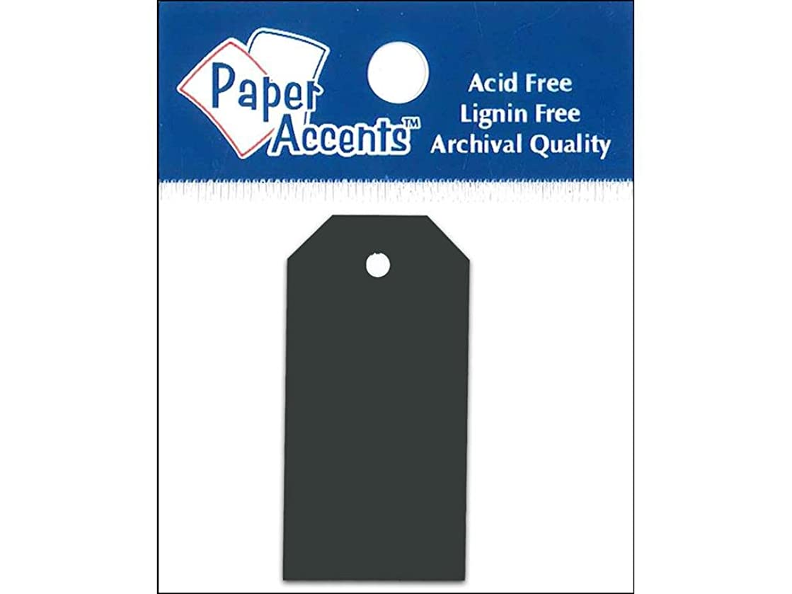 Accent Design Paper Accents 0.875x1.75 Craft Tags Black