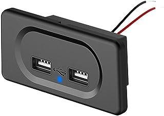 Dual USB Ladegerät Steckdose,MoreChioce 12V 24V 3.1A Auto Ladegerät Schalttafel Wasserdichte Ladebuchse für Auto LKW Motorrad Marine Wohnmobil SUV