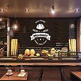 JXFM Personnalisé Boulangerie Nom Sticker Café Cuisine Home Decor Vinyle Art...