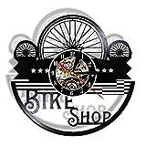 KDBWYC Reloj de Pared para Tienda de Bicicletas Hecho de Dis