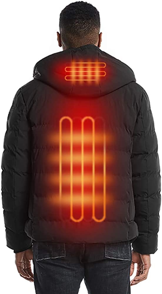 USB Heated Jacket for Men Ranking TOP20 Fiber Heatin Electric Purchase Windproof Carbon
