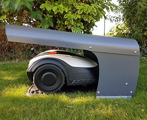 Cobertizo para robot cortacésped multimarca ROBOT PROTECT C, fabricado en Europa.
