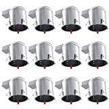 Studebaker Commander Accessory Lighting - Sunco Lighting 12 Pack 6 Inch Remodel Housing, Air Tight IC Rated Aluminum Can, 120-277V, TP24 Connector Included for Easy Install - UL & Title 24 Compliant