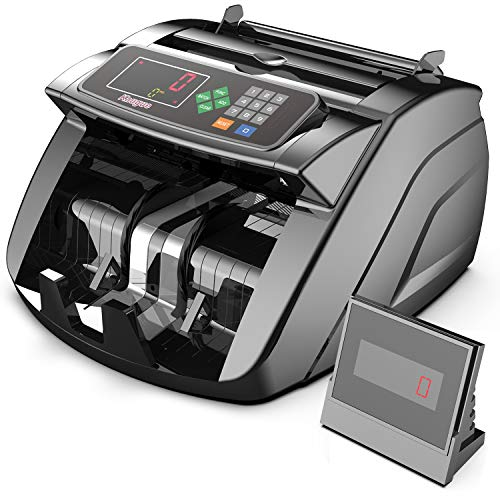 Money Counter Machine with UV/MG/IR/MT, Kaegue Bill Currency Counter Machine, Cash Counting Machine with 6 Modes, 1,000+ Notes Per Minute,100-240V, 2 Years Warranty
