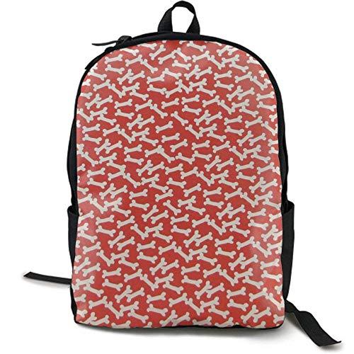 XCNGG Erwachsenen-Vollformat-Druckrucksack Lässiger Rucksack Rucksack Schultasche Travel Backpack Laptop Backpack Large Diaper Bag - Dog Bones Backpack School Backpack for Women & Men