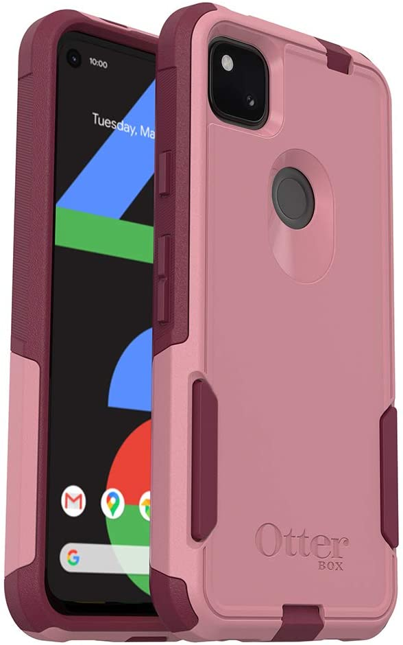 OtterBox Commuter Series Case for Google Pixel 4a (ONLY, Not Compatible with 5G Version) - Cupids Way (ROSEMARINE Pink/RED Plum)