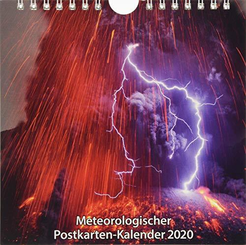 Meteorologischer Postkarten-Kalender 2020: 12 farbige Postkarten mit Motiven zum Thema Wetter, Klima und Vulkane
