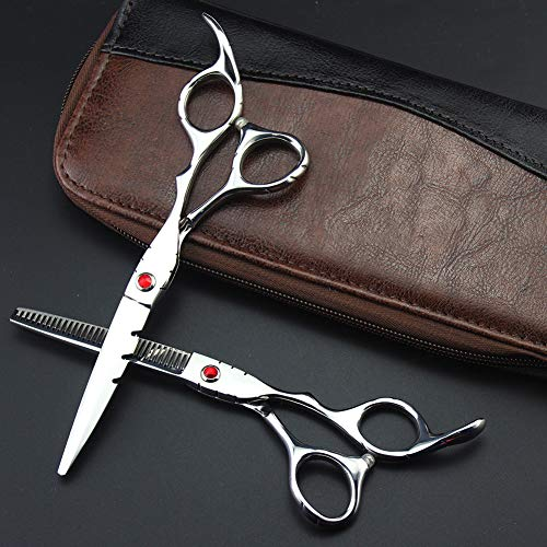 YK SCISSORS Tijeras Profesionales de peluquería Tijeras de 6 Pulgadas de Corte de Pelo Tijeras de Acero Inoxidable 440c de Alta dureza Corte Peluquero Herramientas Profesionales,Rojo