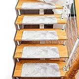 Asdomo - Almohadillas Autoadhesivas para escaleras (55 x 22 x 4 cm, Antideslizante, PVC), PVC, como en la Imagen, C