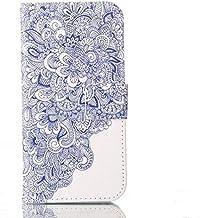 جرابات KINGCOM-Wallet - جرابات غير لامعة لهاتف Lenovo P2 P70 S60T S90 Vibe C2 P1 P1M S1 إطار جلدي X2 X3 ZUK Edge Z2 Pro Card Slot Phone Bags P08H (Flower Ceramic For Lenovo Vibe P1M)