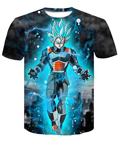 MEIPINPAI Camiseta con Estampado 3D Dragonball para Hombre, diseño Interesante, Ideas de Regalos, Camiseta Delgada Personalizada-Color del patrón_4XL