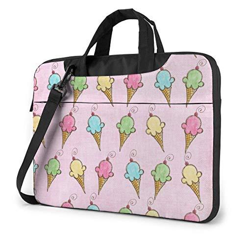 IUBBKI Laptop Case Computer Bag Sleeve Cover Colorful Ice Cream Waterproof Shoulder Briefcase 13 14 15.6 Inch