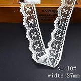 En gros pas cher 10yard / Lot blanc ruban de dentelle dentelle de coton pour la couture DIY broderie garniture décoration de mariage Afrique dentelle tissu, No 10