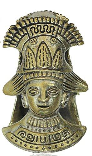 Chic-Net Lobe - Piercing para la oreja, peso de la oreja, oro antiguo, 18 mm, latón oxidado, 47,6 g, dilatador de peso 11/16, pendientes para hombre y mujer, joya de 48 mm de longitud