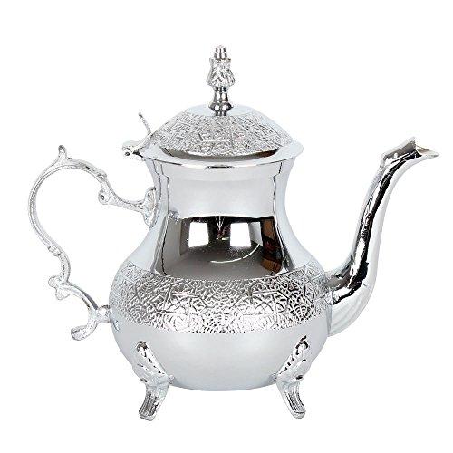 albena shop 73-127 Zahir orientalische Teekanne Messing verchromt 500 ml