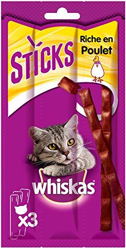 Whiskas Friandises en bâtonnet au poulet pour chat, 84...