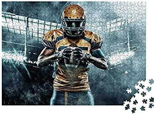 DMTWSM Puzzles für Erwachsene 1000-teiliges Puzzle - American Football Athlet, pädagogisch intellektuell dekomprimierend Spielzeug Spaß Familienspiel für Kinder Erwachsene