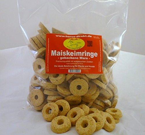 Scheidler horse-direkt Maiskeimringe, gebackene Ware! 2 kg Beutel, Pferde,Hamster,Nager,Nagerfutter,Hamsterfutter,Futtermittel,