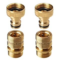 GORILLA EASY CONNECT PRODUCTS ONLY WORK WITH OTHER GORILLA EASY CONNECT PRODUCTS and should be purchased as a set STANDARD 3/4 INCH DURABLE SOLID BRASS CONSTRUCTION GHT FITTINGS fit all types of garden hoses faucets and watering devices pressure wash...