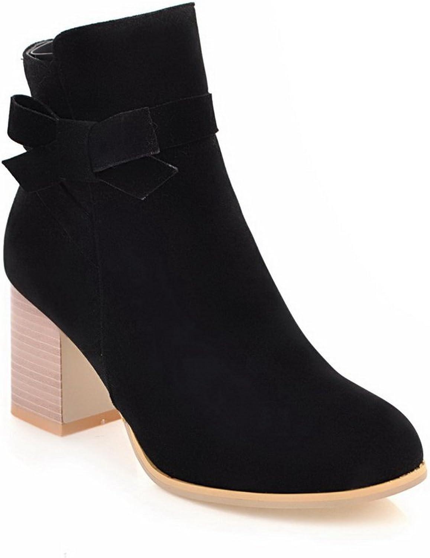 AdeeSu Womens Tuxedo Bows Zipper Dress Nylon Boots SXC02510