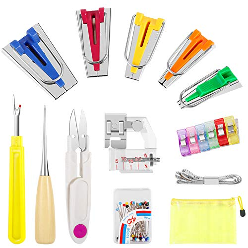 Double Fold Bias Tape Fabric Binding Sewing Supplies Bias Tape Maker Set Quilting Tool For Single