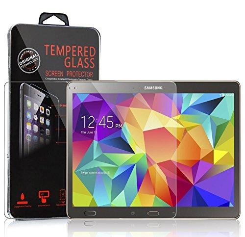 Cadorabo Panzer Folie für Samsung Galaxy Tab S (10,5 Zoll) - Schutzfolie in KRISTALL KLAR - Gehärtetes (Tempered) Bildschirm-Schutzglas in 9H Festigkeit mit 3D Touch Kompatibilität