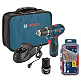Bosch Power Tools Drill Kit - PS31-2A - 12V Max Lithium-Ion 3/8-Inch 2-Speed Drill/Driver Kit w…