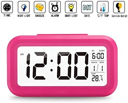 shree krishna Digital Smart Backlight Alarm Clock with Automatic Sensor,Date & Temperature,alarm clocks for bedroom,digital clock for home,digital clock with alarm,alarm clocks for students,digital clock