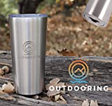 Outdooring Adventure Twenty Stainless Steel Travel Mug - A 20 0z. Vacuum Insulated Travel Mug with Integrated Bottle Opener for Keeping Drinks Hot or Cold at the campsite or the Office