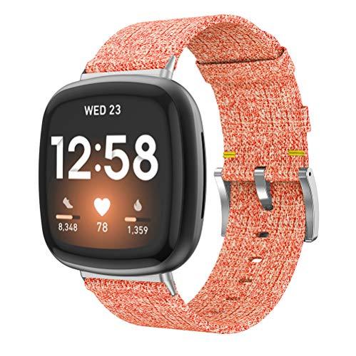 Chainfo Correa de Reloj de NATO Nailon Compatible con Fitbit Versa 3 / Fitbit Sense, Mujer y Hombre, Hebilla de Acero Inoxidable (Pattern 2)